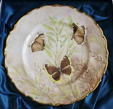 Studio DRB Devon hand painted plate Exotic Butterflies by David R Bowkett No 5