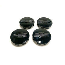 4pcs Gloss Black Fit Chevrolet Wheel Center Cap Silverado Suburban Tahoe 83mm