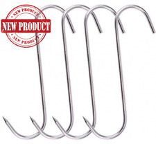 Meat Hook Heavy Duty S Hooks 10 Stainless Steel Processing Butcher For 4 Pack