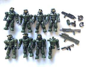 halo mega bloks figures Master Chief X 8 Plus Weapons Mega Blocks