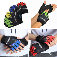 Men Cycling Gloves Bicycle Motorcycle Half Finger Fingerless Sports Gel  *