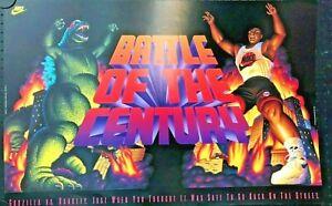 Battle of the Century-Barkley vs Godzilla, Nike Poster 1992, FREE INT.SHIPP.