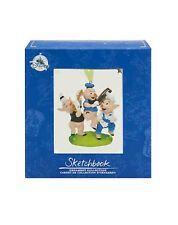 Disney Store THE THREE LITTLE PIGS LE Sketchbook Ornament Classic Storybook NIB