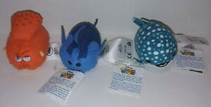 """Disney Tsum Tsum Plush Lot of 3 Fish Stuffed Animals 3"""" Stackable With Tags"""