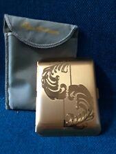 Elgin American Cigarette Case Brushed Gold Art Nouveau Compact