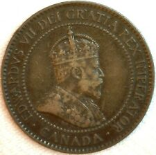 1905 Canada One Cent Coin VF Very Fine 1c Canadian Money Large Cent  K112