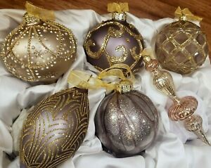 Frontgate Christmas tree holiday ornaments set of 6 box set