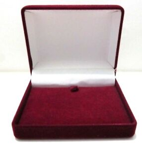 Luxury Burgundy Velvet Necklace Pendant Gift Box-Bargain Price-W09-FAST DISPATCH