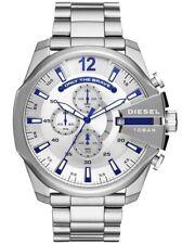 NEW Diesel Timeframes Mega Chief Chronograph Silver Quartz DZ4477 Men's Watch