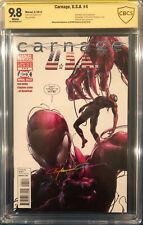 Clayton Crain signed CARNAGE USA #4 CBCS 9.8 SS Spider-Man CGC Venom Avengers