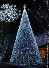 22M 200LED White Solar Lights Christmas Party Outdoor Indoor Decoration Bulb
