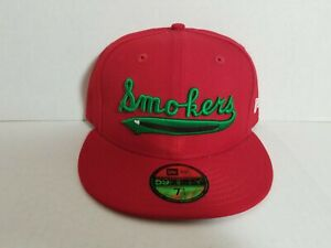 Tampa Smokers MILB Red Exclusive New Era 59Fifty Hat Sz 7 1/2 Gray UV