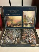 Thomas Kinkade Gibson Puzzle 2x1000 Piece Painter of Light PARIS & SAN FRANCISCO