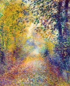 Renoir 1877, In the Woods, 8x10inch (plus border) Canvas Print, Giclee