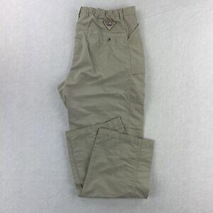 Columbia PFG Performance Gear Mens L Sand Pants (35x30.5) Outdoor/Fishing/Hiking