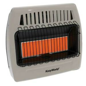 Kozy World KWN523 Wall Heater Natural Gas 30000 BTU Infrared 1250 Sq Ft Heater