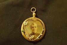 Superb  9ct/ Pearl  Gold Antique Photo  Locket - Double sided Birmingham 1909