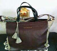 "Women's Large Burgundy Leather ""MERCER & MADISON"" Satchel Cross Body Bag Purse"