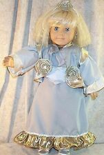 "Doll Clothes Made 2 Fit American Girl 18"" inch Steampunk Ensemble Gold Sliver 4p"