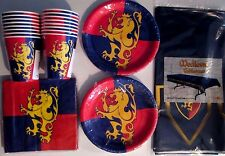 MEDIEVAL TIMES Knight Crest Birthday Party Supply Set Pack Kit for 16