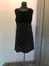 Marilyn Anselm Hobbs Spotty Velvet Detail Mini Dress Size 12 Read Description