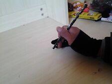 Unisex Black Velvet 2 Finger Gloves Drawing Oil Painting Antifouling Gloves S