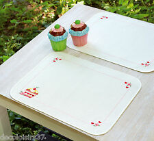 Vervaco  0148213  2 Sets de table  Cupcakes  Broderie  Point de Croix  Compté