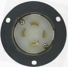 Nema L1530Fi 30A 3Ø 250V/Ac 3 Pole 4 Wire Grounding Flanged Inlet