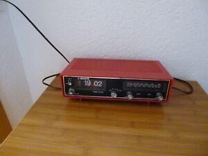 Klappzahlenwecker Radiowecker rot - Manta- RD 500 - funktioniert -