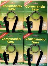 4 PK COMMANDO WIRE SAW WHANDLE-8 STRAND CUT WOOD PLASTIC RUBBER SOFT METAL BONE