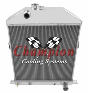 Champion Cooling  3 Row All Aluminum Radiator 46 Ford with Chevy, CC46CH