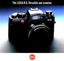 1989 Leica R5 35mm Slr Camera Brochure-Leica R5-from 1989