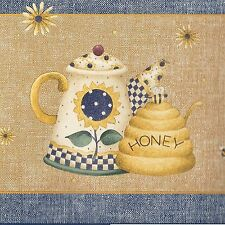 Country Bee Hive China by Debbie Mumm - ONLY $9 -  Wallpaper Border 584