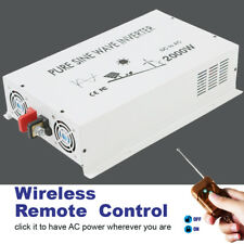 2000Watt Pure Sine Wave Car Power Inverter 12/24V to 120V/220V Remote Control