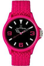 Toy Watch ST04PS Women's Quartz Analog Black Dial Pink Fabric 0516