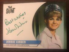 THE SAINT: AUTOGRAPH CARD: JENNIE LINDEN AS DIANE HOLBROOK JL2 - GREEN INK