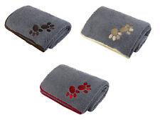 Puppy Dog Paw Print Comfort Blanket Oxford Sherpa Fleece Soft Kitten Comforter