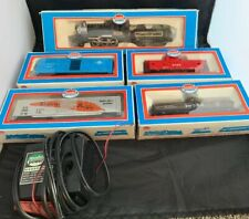 Vintage Model Power Train 6720 AT+SF ENGINE & 4 Cars W/transformer Lot Untested