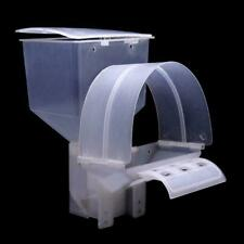 Pigeon Feeder Automatic Single Hole Feeding Case Hanging Cage Food Dispenser