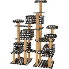 XXL Arbre à chat griffoir grattoir jouet meuble 214cm pour chats noir/pattes