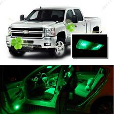 For Chevy Silverado 2007-2013 Green LED Interior Kit + Green License Light LED