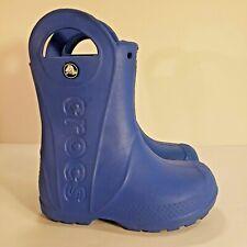 Crocs Handle It blue rain boot C10, boys toddler kids rubber waterproof