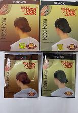 MOONSTAR HERBAL HAIR & NAIL HENNA, MENDHI, FREE SHAMPOO IN SACHET, BROWN & BLACK