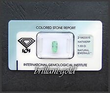 Smaragd mit Echtheitszertifikat, 1.03 Karat, Natur Edelstein in versiegelter Box