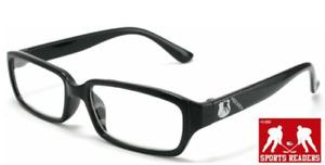 Reading Glasses Mens Eyewear Black Hockey Printed Readers New +1.00 to +2.00