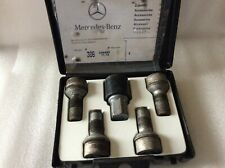 Mercedes-Benz Wheel locks lug bolt kit silver short (B66470155) Code 306