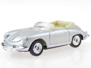 Porsche 356 Convertible silver diecast model car Welly 1:60