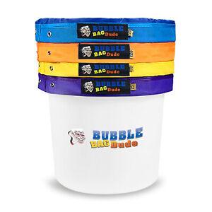 BUBBLEBAGDUDE Bubble Bags 5 Gallon 4 Bag Set Herbal Ice Essence Extraction Bag