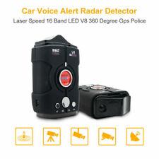 360°GPS Police Détecteur radar voix Alerte Voiture Laser Speed 16 bande LED V8