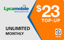 Lyca Lycamobile $23 Plan Refill 1GB 4G Data Unlimited Talk Text